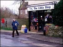 Rural shop front