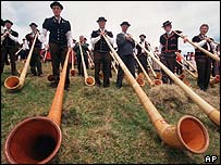 Swiss horn players