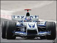 Juan Pablo Montoya in the Williams-BMW