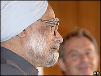 Manmohan Singh and Tony Blair