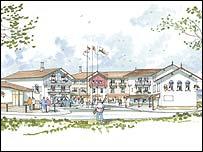 The proposed snow centre at Bluestone