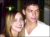 Charlotte Church and Steven Johnson