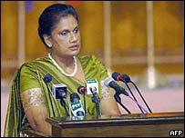President Chandrika Kumaratunga