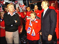 Richard Branson and Tony Blair