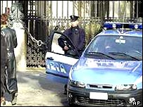 Policeman outside US embassy in Rome