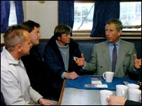 Prince Charles talks with fishermen - PA