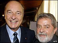 Jacques Chirac and Lula da Silva