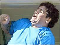 Former Argentine World Cup winner Diego Maradona