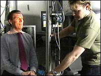 James Kerr getting his three dimensional scan