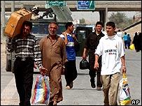 Residents fleeing Falluja