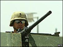 US marine outside Falluja