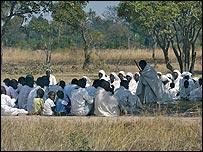 Worshippers in Zimbabwe