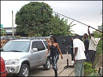 Filming a Nollywood movie
