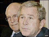 US President George W Bush (right) and Vice-President Dick Cheney
