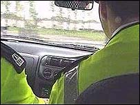 Police driving