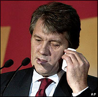 Viktor Yushchenko in Kiev, 18 Sep 04