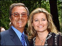 Des O'Connor and fiancée Jodie Brooke Wilson