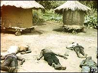 Bodies of those killed in LRA attack
