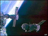 Soyuz spacecraft in space   AP