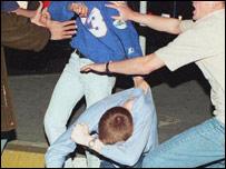Violent scene