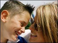 Isaac Bason with mum Marie