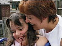 Layla Jane with her mum Tina