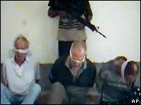 Imágenes del video transmitido por internet