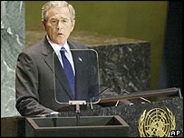 El presidente de Estados Unidos, George W. Bush