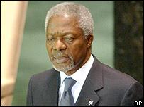 El secretario general de Naciones Unidas, Kofi Annan