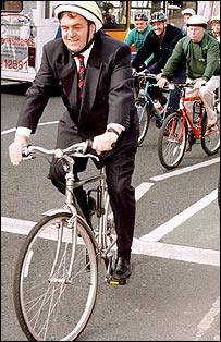 John Prescott cycling