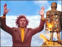 A still from the film, The Wicker Man