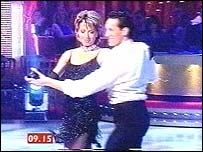 Natasha Kaplinsky and dancing partner Brendan Cole in BBC One's new series, Strictly Come Dancing