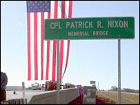 The Marine Corporal Patrick Nixon's bridge