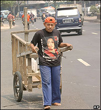Man in Megawati shirt