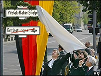 Yitzhak Rabin Street is unveiled in Berlin