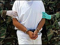 Prisoner in Guantanamo Bay, Cuba