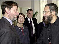 David Blunkett meets Yusuf Islam (Cat Stevens)