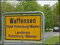 Waffensen town sign