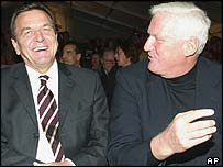 Gerhard Schroeder and Friedrich Christian Flick