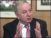Hearts chairman George Foulkes