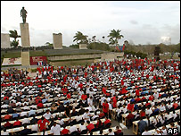 Revolution Square Ernesto Che Guevara in Santa Clara, Cuba during the chess game