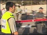 Scene of the bomb in northern Jerusalem