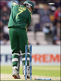 Mohammad Sami is bowled