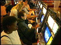 Gambling machines in Las Vegas