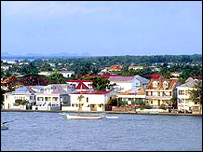 Belize City coastline