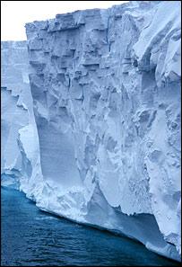 Glaciar antártico en Noaa