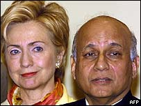 Hillary Clinton and India's US ambassador Lalit Mansingh