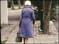 pensioner woman