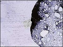 Foto de un satélite de la NASA