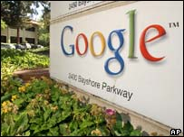 The sign outside the Googleplex